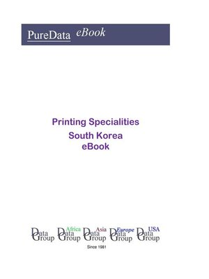 cover image of Printing Specialities in South Korea