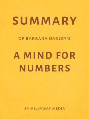 cover image of Summary of Barbara Oakley's a Mind for Numbers