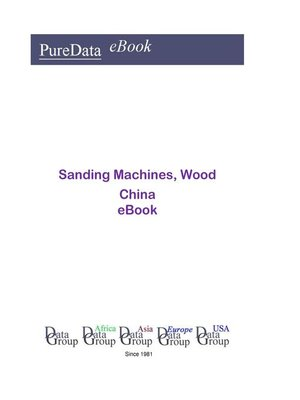 cover image of Sanding Machines, Wood in China