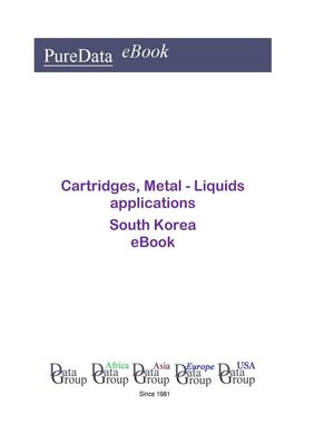 cover image of Cartridges, Metal--Liquids applications in South Korea