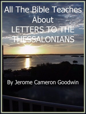 cover image of THESSALONIANS, LETTERS TO THE