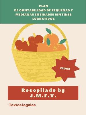 cover image of Plan de Contabilidad de pequeñas y medianas entidades sin fines lucrativos