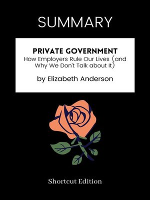 cover image of SUMMARY--Private Government