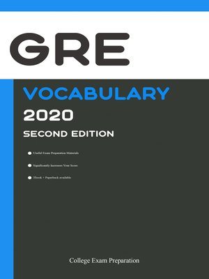 cover image of GRE Test Vocabulary 2020
