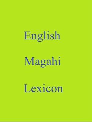 cover image of English Magahi Lexicon