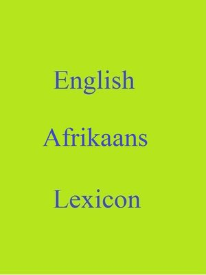 cover image of English Afrikaans Lexicon