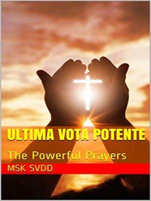 cover image of ULTIMA VOTA POTENTI