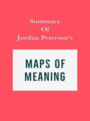 cover image of Summary of Jordan Peterson's Maps of Meaning
