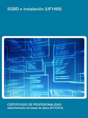 cover image of UF1469--SGBD e instalación