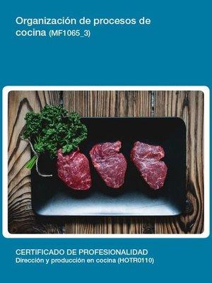 cover image of MF1065_3--Organización de procesos de cocina