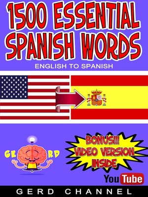 cover image of 1500 Essential Spanish Words