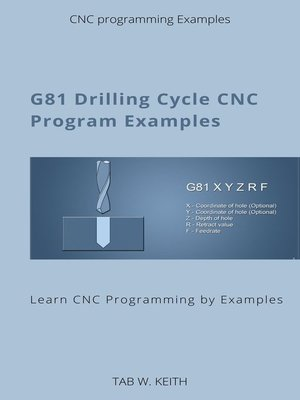 cover image of G81 Drilling Cycle CNC Program Examples