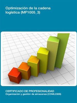 cover image of MF1005_3--Optimización de la cadena Logística
