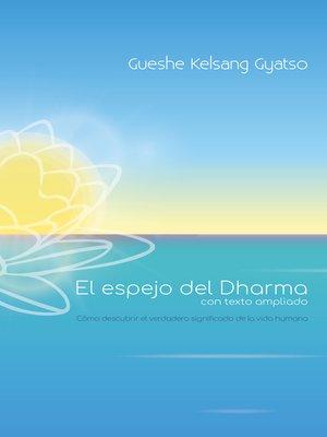 cover image of El espejo del Dharma, con texto ampliado