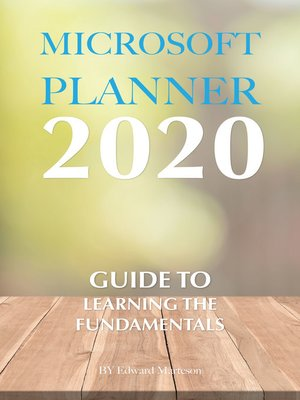 cover image of Microsoft Planner 2020