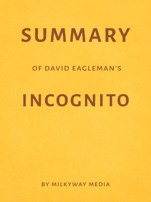 cover image of Summary of David Eagleman's Incognito