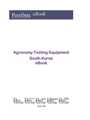 cover image of Agronomy Testing Equipment in South Korea