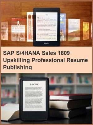 cover image of SAP S/4HANA Sales 1809 Upskilling Professional Resume Publishing