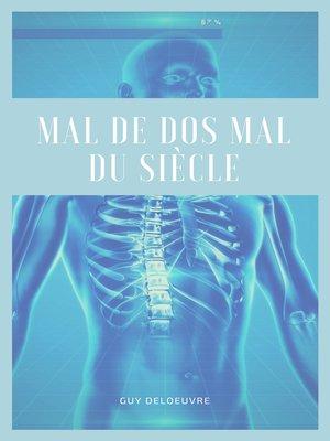 cover image of Mal de dos Mal du siècle