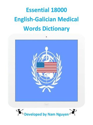 cover image of Essential 18000 English-Galician Medical Words Dictionary
