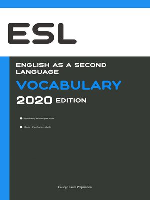 cover image of English as a Second Language (ESL) Vocabulary 2020 Edition [Engels Leren Ebook]
