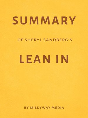 cover image of Summary of Sheryl Sandberg's Lean In