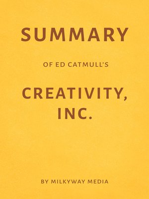 cover image of Summary of Ed Catmull's Creativity, Inc.