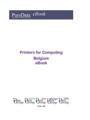 cover image of Printers for Computing in Belgium