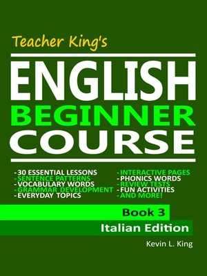 cover image of Teacher King's English Beginner Course Book 3--Italian Edition