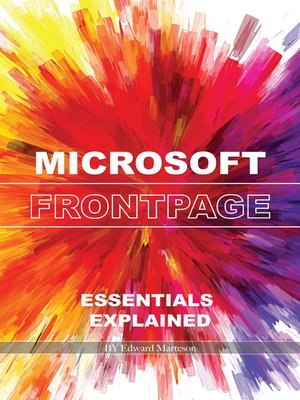 cover image of Microsoft FrontPage