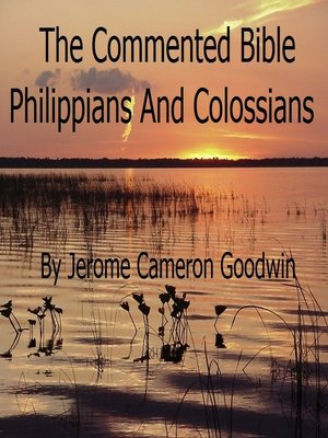 cover image of Philippians and Colossians