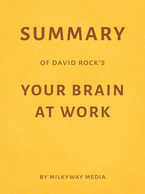 cover image of Summary of David Rock's Your Brain at Work