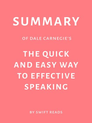 cover image of Summary of Dale Carnegie's the Quick and Easy Way to Effective Speaking