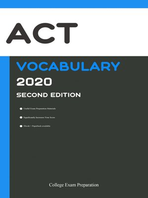 cover image of ACT Test Vocabulary 2020