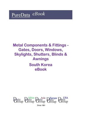 cover image of Metal Components & Fittings--Gates, Doors, Windows, Skylights, Shutters, Blinds & Awnings in South Korea