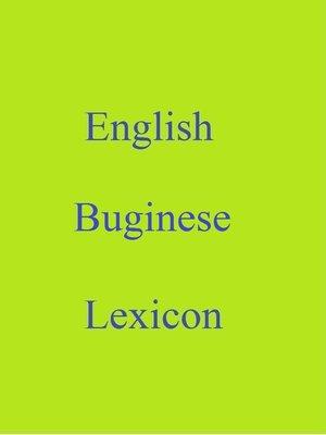 cover image of English Buginese Lexicon