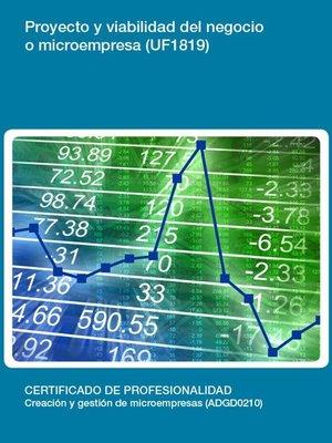 cover image of UF1819--Proyecto y viabilidad del negocio o microempresa