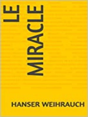 cover image of LE MIRACLE