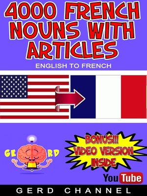cover image of 4000 French Nouns with Articles