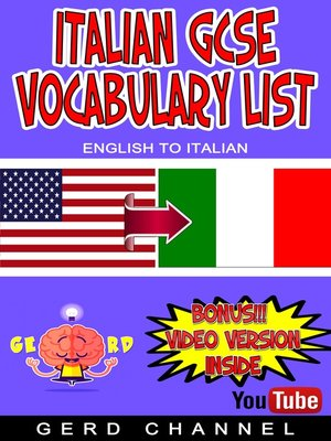 cover image of Italian GCSE Vocabulary List