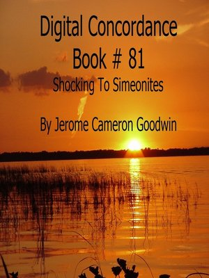 cover image of Shocking to Simeonites--Digital Concordance Book 81