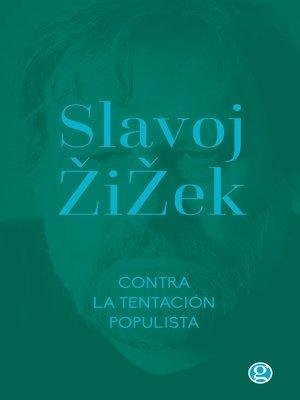 cover image of Contra la tentación populista