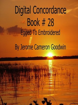 cover image of Egged to Embroidered--Digital Concordance Book 28
