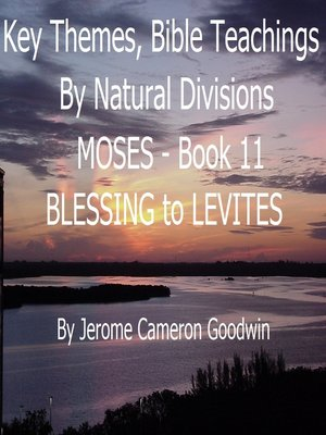 cover image of MOSES--BLESSING to LEVITES--Book 11--KTBND