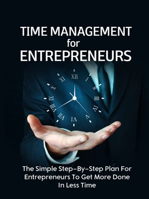 cover image of Time Management For Entrepreneurs