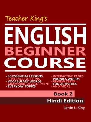 cover image of Teacher King's English Beginner Course Book 2--Hindi Edition