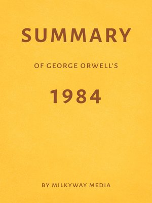 cover image of Summary of George Orwell's 1984