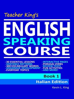 cover image of Teacher King's English Speaking Course Book 1--Italian Edition