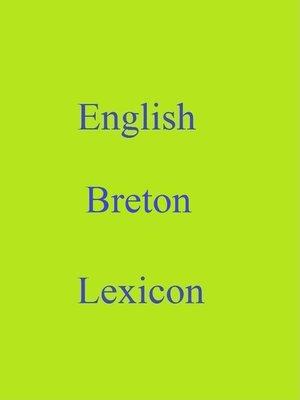 cover image of English Breton Lexicon