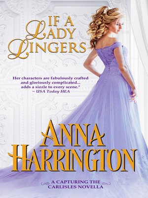 cover image of If a Lady Lingers
